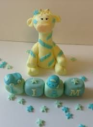 fondant giraffe elephant cake topper by ajssweettoppers on etsy