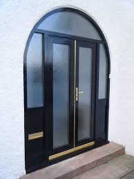 we replaced the double entry doors with new fiberglass another