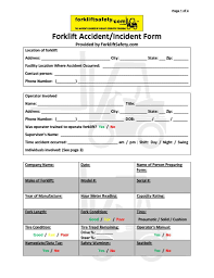 New Home Inspection Checklist Pdf by Free Forklift Inspection Forms Accident Forms U0026 More