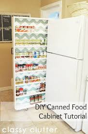 diy kitchen storage cabinet home design ideas diy canned food organizer tutorial