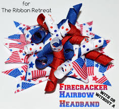 fourth of july hair bows firecracker hair bows