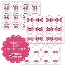 hello cupcake toppers pink hello bow cupcake toppers printable treats