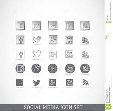 Facebook Icon by Facebook Icon Set Vector Editorial Photography Image 58794752