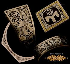 gold inlay engraving sam alfano engraver jewelry engraving