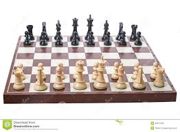 chess board and pieces on white royalty free stock photo image