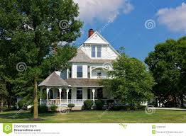 victorian house with porch royalty free stock photography image