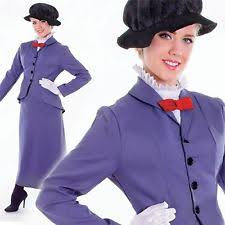 ladies victorian nanny mary poppins fancy dress costume womens