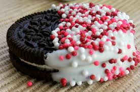 chocolate dipped oreo cookie recipe valentines day cookie