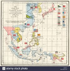 Map Of The Asia by Map Of The China Sea The Philippines And European Colonies In The