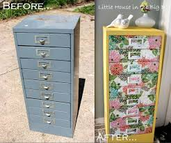 repurpose metal file cabinet decoupage ideas for furniture awesome upcycled filing cabinet with