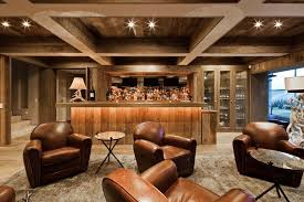Small Basement Decorating Ideas Decorations Rustic Small Basement Design With Wooden Bar Table