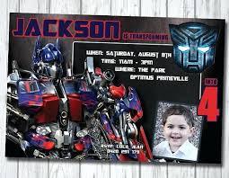 optimus prime birthday party transformers birthday party invitations pixellation me