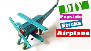 easy airplane popsicle stick crafts for kids to make craft ideas