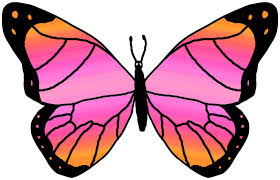 pink and purple butterfly clipart free best pink and