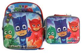amazon disney junior pj masks backpack u0026 lunch box