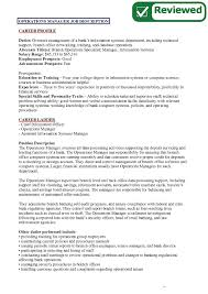sample job description for operations manager stibera resumes