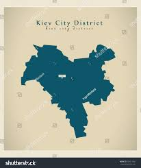 Ua Map Modern Map Kiev City District Ua Stock Vector 259917926 Shutterstock