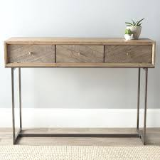 wood and metal console table with drawers wood and metal console table contemporary with drawers givgiv