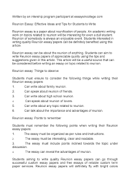 tips for writing papers calameo reunion essay effective ideas and tips for students to calameo reunion essay effective ideas and tips for students to write