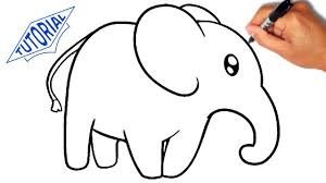 how to draw an elephant for kids simple youtube