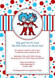 thing 1 and thing 2 baby shower dr seuss thing one and thing two baby shower