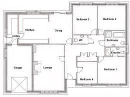 4 bedroom house floor plan plans h planskill 14 wondrous ideas for