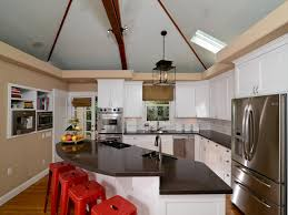 vaulted kitchen ceiling ideas kitchen cabinet ideas for vaulted ceilings