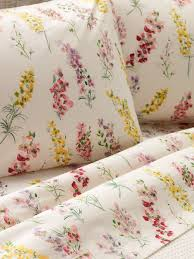 Percale Sheet Set Portuguese Cotton Sheet Set Watercolor Floral Print Sheets