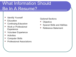 what information should be on a resume resume ideas