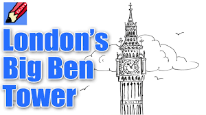 how to draw london u0027s big ben elizabeth tower real easy for kids