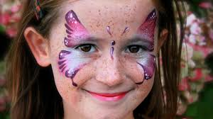 Halloween Butterfly Makeup by Butterfly Face Painting Tutorial Easy Pink Butterfly Makeup