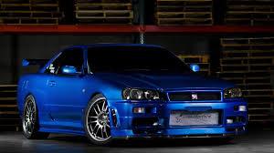 nissan fast car nissan skyline nissan gt r r34 fast and furious blue car hd wallpaper