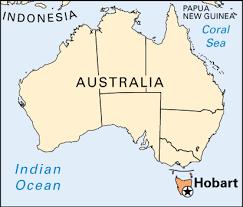 map of tasmania australia hobart britannica homework help
