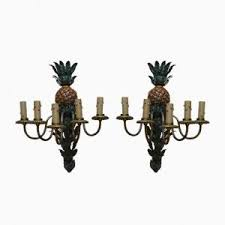 Pineapple Wall Sconce Vintage Sundial Shaped Brass Lamp For Sale At Pamono
