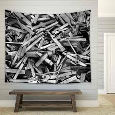 wall26 com art prints framed art canvas prints greeting wall26 sticks n more sticks black and white panorama background texture fabric wall tapestry home decor 68x80 inches