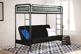 metal bunk bed with futon bottom experience of bunk bed with
