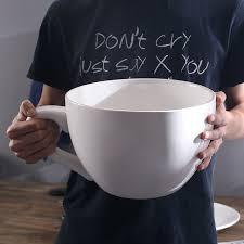 simple creative white large mug with saucer craft decoration