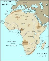 mapa de africa accidentes geograficos de africa mapa
