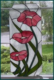 Stained Glass Kitchen Cabinet Doors by Stained Glass Flowers Pink Floral