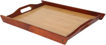 buy wood wood food serving tray with handles for