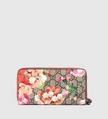 bloom wallet lyst gucci gg blooms wrist wallet in pink