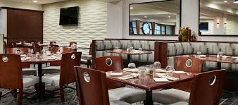 Hilton Hotel Near OHare Airport Nearby Dining - Restaurant dining room furniture