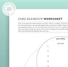 core elements worksheet u2013 day designer
