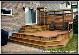 Patio Decks Designs Outdoor Inspiring Outdoor Deck Design With Cozy Small Patio