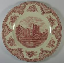 vintage 1930 s johnson brothers britain castles pink 10 dinner