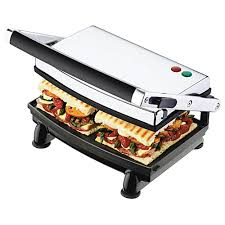Toaster Press Sunbeam Compact Cafe Grill 2 Slice Sandwich Press Gr8210 Big W