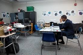 Obama Shooting Meme - obama sits alone in a classroom rewriting his remarks before