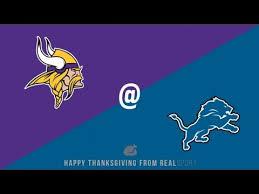 detroit lions vs minnesota vikings thanksgiving highlights