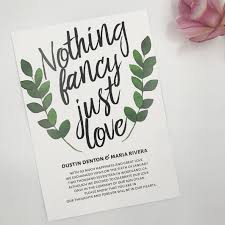 elopement invitations nothing fancy just elopement announcement cards wedding