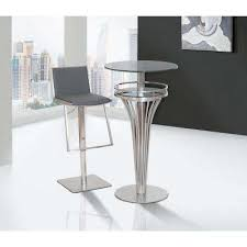 White Leather Bar Stool Bar Stools Kitchen U0026 Dining Room Furniture The Home Depot